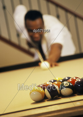Start Of A Pool Game Stock Photo