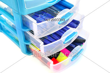 Stationery Drawer Stock Photo