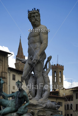 Statue Of Greek God Neptune In Florence Square Stock Photo Dd12115276