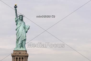 Statue-of-Liberty, Freedom Symbol, New York, USA Stock Photo