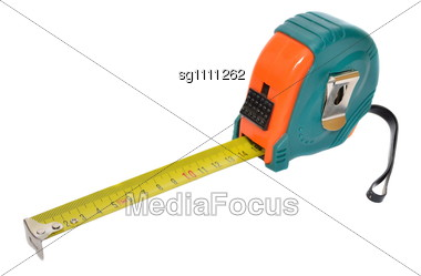Steel Measuring Tape Stock Photo