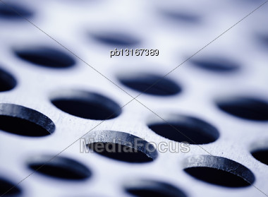 Steel Metal Background, Blue Toned Stock Photo