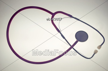 Stethoscope On A Plain Background Stock Photo
