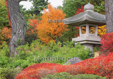 Stone lantern - Honshu Chugoku Japan Stock Photo