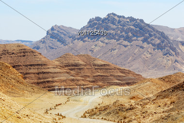 Stones Of Makhtesh Ramon, Unique Crater In Israel Stock Photo