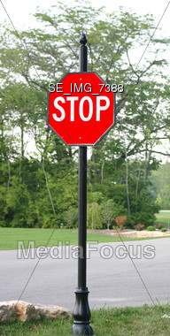 Stop Sign Stock Photo