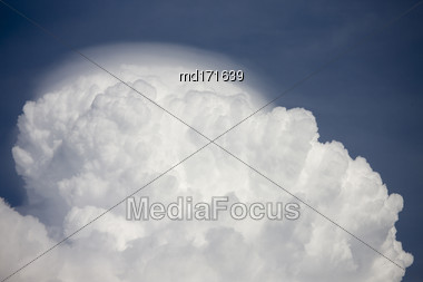 Storm Cloud Thunderhead Saskatchewan Canada Billowing Storm Stock Photo