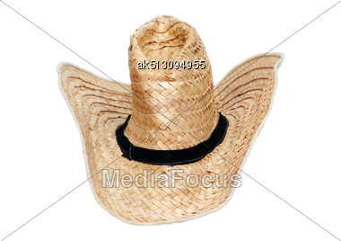 Straw Hat Isolated On White Stock Photo