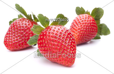 Strawberry Isolated On White Background Cutout Stock Photo