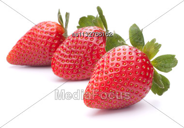 Strawberry Isolated On White Background Cutout Stock Photo