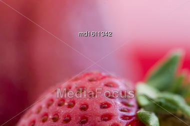 Strawberry Macro Red Close Up Studio Shot Stock Photo