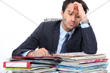 Stressed Young Professional Stock Photo