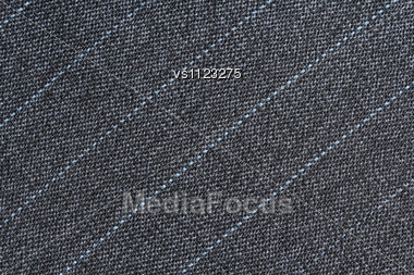 Striped Fabric Texture. Clothes Background. Close Up Stock Photo