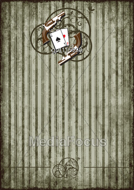 Striped Grunge Background With Vintage Vignette Stock Photo