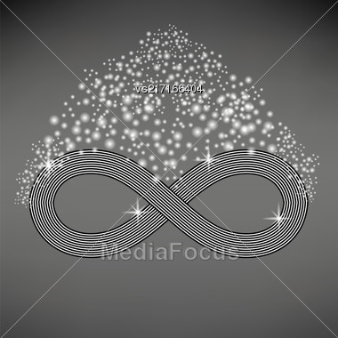Striped Infinity Icon Isolated On Light Gray Background Stock Photo