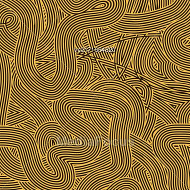 Striped Line Background. Orange Wave Line Pattern Stock Photo