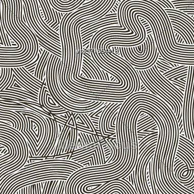 Striped Line Background. White Wave Line Pattern Stock Photo