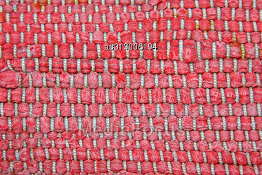 Structure Of A Knitted Fabric. A Photo Close Up. Stock Photo
