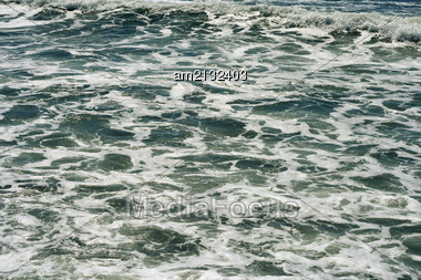 Structure Vspennenoy Sea Water, The View From The Top Stock Photo