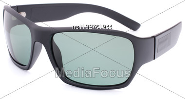 Stylish Black Sunglasses Isolated On White Background Cutout Stock Photo