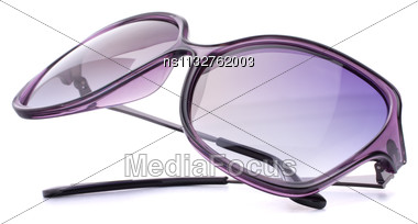 Stylish Female Sunglasses Isolated On White Background Cutout Stock Photo