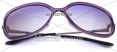 Stylish Female Sunglasses Isolated On White Background Cutout Stock Photo