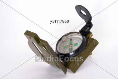 Substantive Film Military Compass Stock Photo