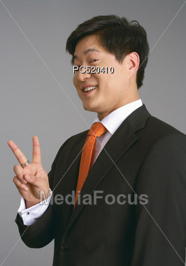 Successful Asian Business Man Stock Photo