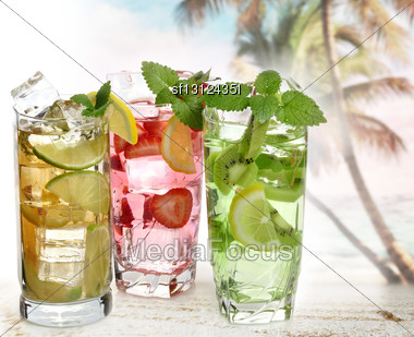 Summer Cold Drinks ,Close Up Stock Photo