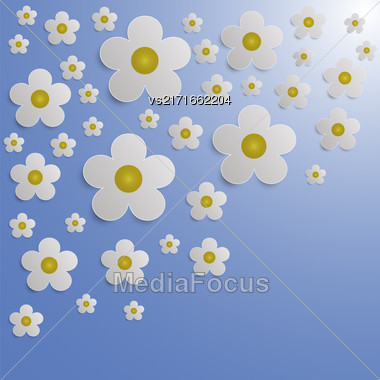 Summer Flower Paper Background. Romantic Floral Pattern Stock Photo