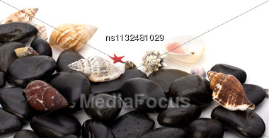 Summer Holidays Concept. Beach Elements Background With Copy Space Stock Photo