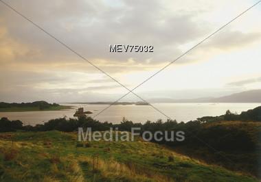 Summer Lake Landscape - Scotland, Great Britain Stock Photo