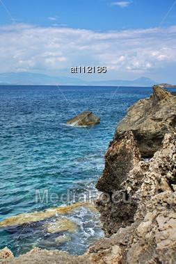 Summer Landscape In The Sea Stock Photo