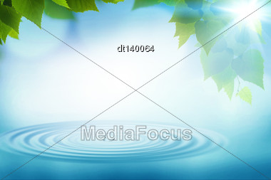 Summer Rain, Abstract Environmental Backgrounds For Your Design Stock Photo