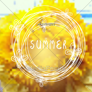 Sunflower Background. Vector Sun Flower Design Stock Photo