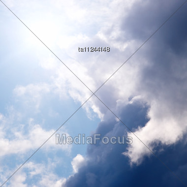Sunlight Through The Clouds, Picturesque Sky Stock Photo