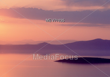 Sunset, Croatia Stock Photo