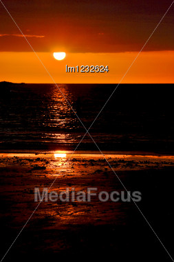 Sunset In The Clouds In Nosy Be Madagascar Stock Photo