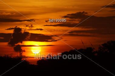 Sunset - Nightfall Stock Photo
