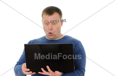 Surprised The Man Stock Photo