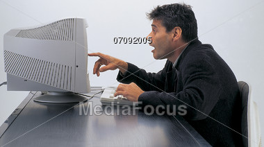 Surprising Discovery Stock Photo