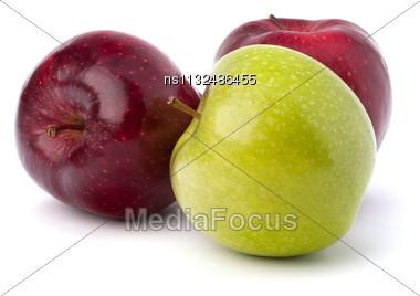 Sweet Apples Isolated On White Background Stock Photo