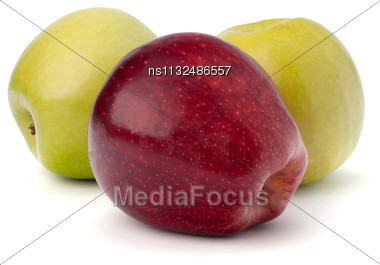 Sweet Apples Isolated On White Background Stock Photo