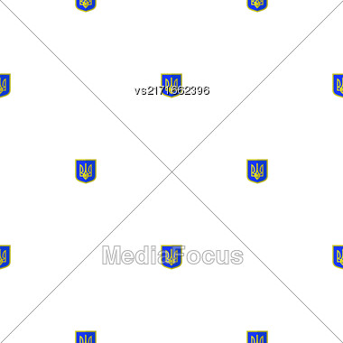 Symbol Of Ukraine Background. Seamless Ukrainian Pattern Stock Photo