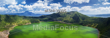 Taal - The Smallest In The World Volcano, Manila, Philippines Stock Photo