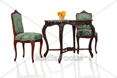 Royalty-Free Stock Photo Table And Two Chairs  sc 1 st  MediaFocus & Table And Two Chairs - Stock Photo ZO12082179