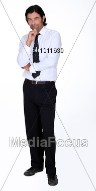 Tall Fellow With Dark Hair Stock Photo