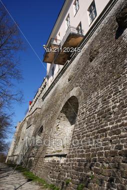 Tallinn, Walls Of Old City Stock Photo