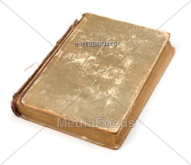 Tattered Book Isolated On White Background Stock Photo