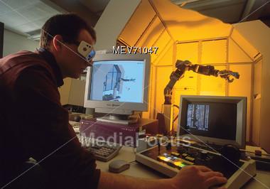 Technology - Computer Engineer - Robotics Stock Photo